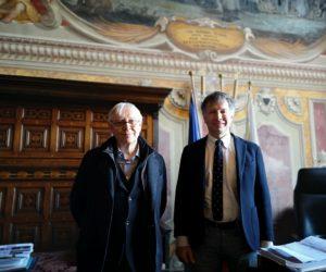 Il sindaco De Mossi incontra Milo Manara