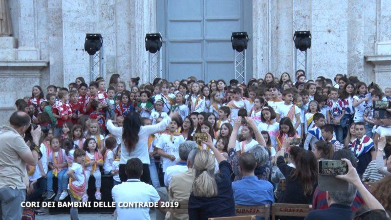 Alle 21 su Siena Tv i cori dei bambini delle Contrade in Provenzano