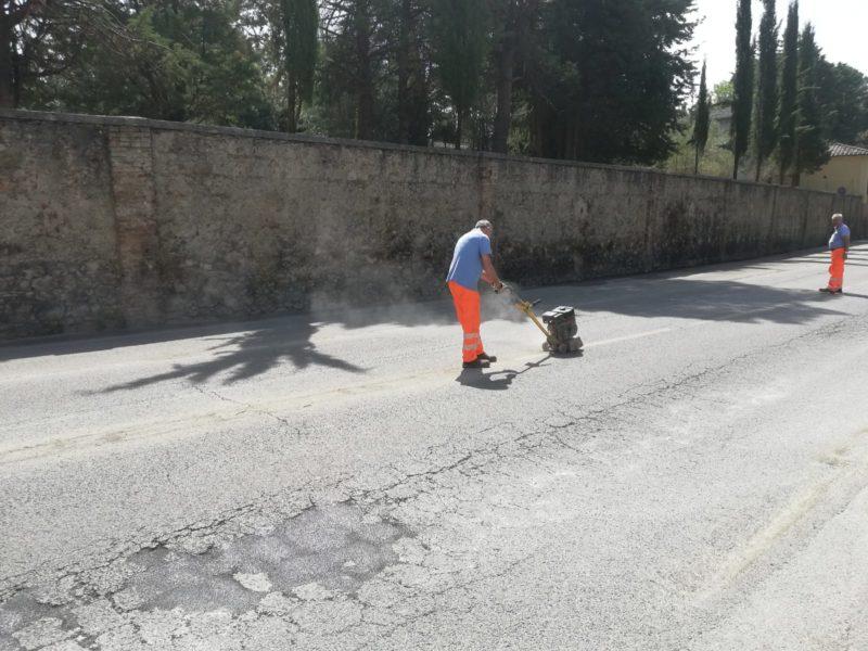 Muro pericolante di Villa Patrizia: lavori finiti