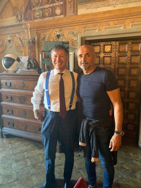 Anche Luciano Spalletti assiste alla Prova Generale da Palazzo Pubblico