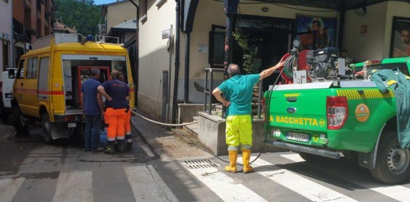 """I volontari senesi ancora al lavoro ad Abbadia San Salvatore: """"Danni ingenti nel centro storico"""""""