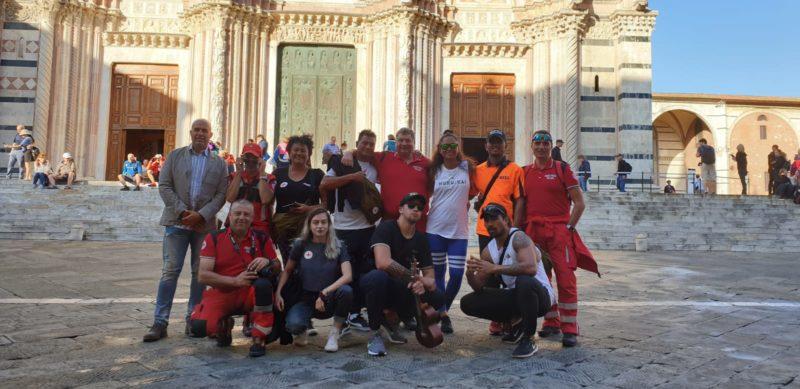 Volontari Croce Rossa delle Isole Cook in visita a Siena