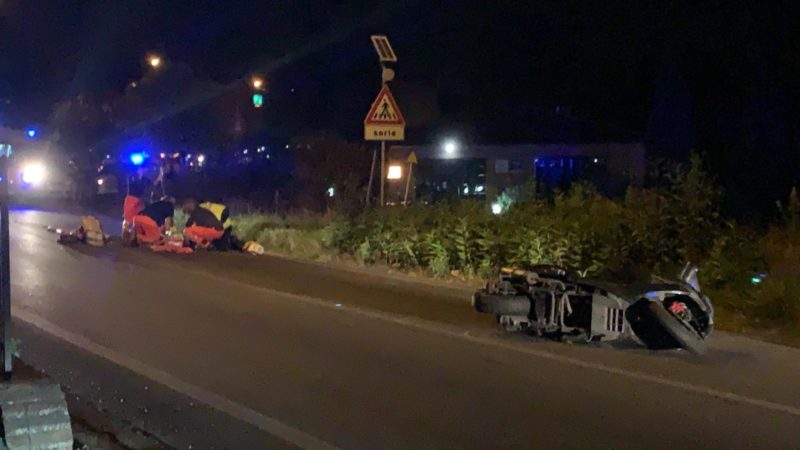 Coroncina, scontro tra scooter e furgone: una persona a terra e code chilometriche