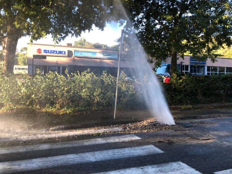 Grossa perdita d'acqua, file chilometriche in Viale Toselli (LE FOTO)