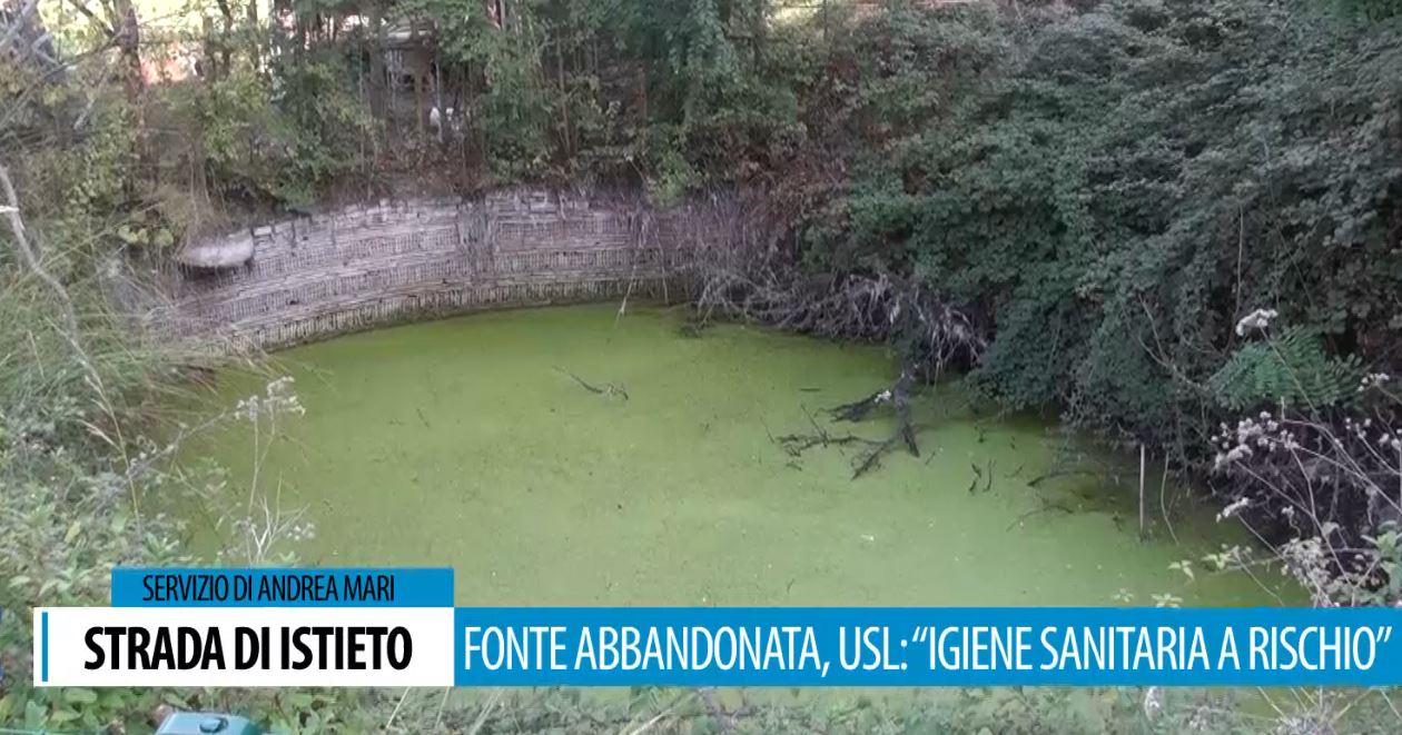 Fonte abbandonata e a rischio igiene e malattie infettive in strada di Istieto