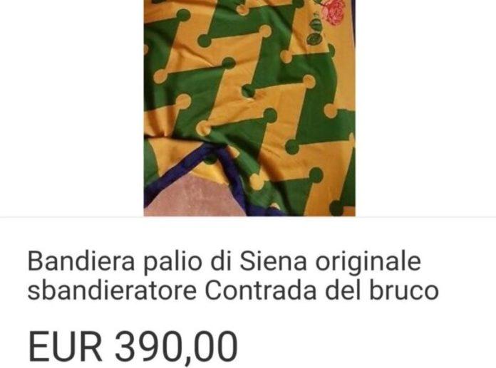 Una bandiera del Bruco in vendita su Ebay