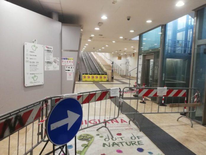 Chiuso il sottopassaggio della stazione, disagi per i pendolari. Riapertura prevista per il 2020