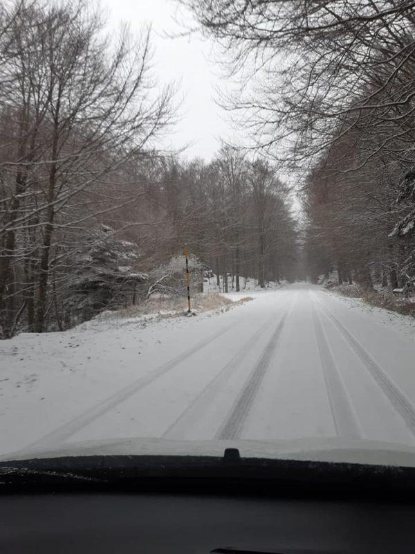 Arriva la neve sull'Amiata: tutto bianco dai rifugi fino alla vetta