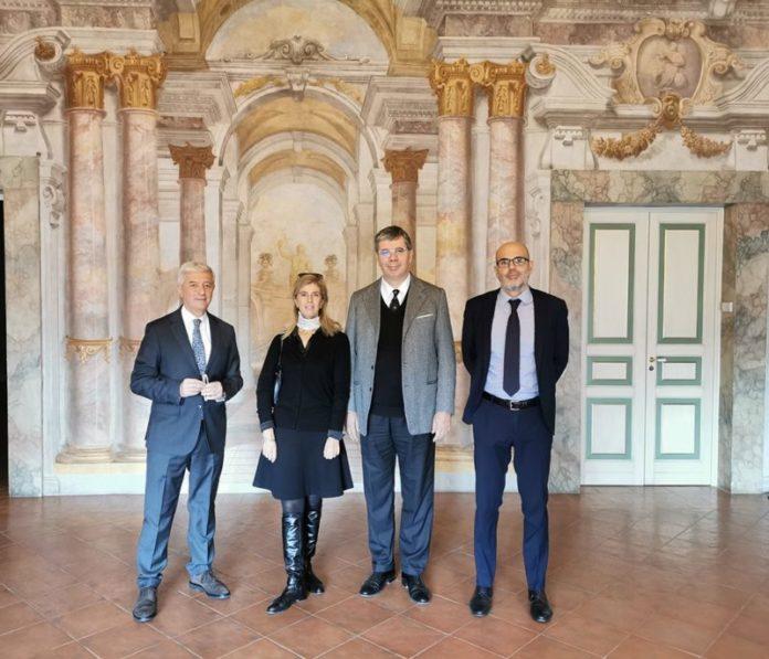 L'ambasciatore italiano a Panama Ambrosetti in visita a Siena