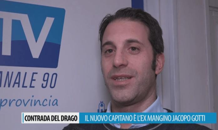 """Jacopo Gotti: """"Grazie al popolo del Drago. Raccolto eredità che permette di lavorare bene"""""""