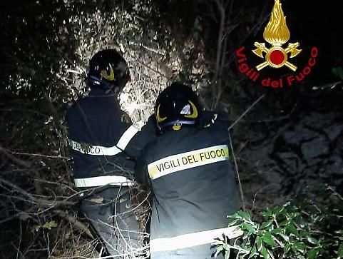 Escursionista disperso salvato dai vigili del fuoco