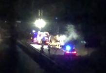 Camion prende fuoco sull'Autopalio