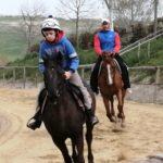 Carlo Sanna e figlio a cavallo