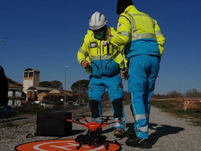 Sono decollati i 7 droni che sorveglieranno dall'alto il centro e i quartieri di Siena