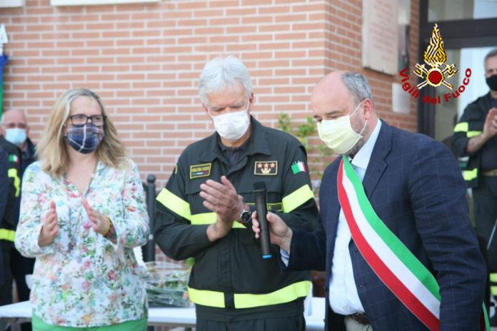 La famiglia Biondi Santi dona un mezzo antincendio ai Vigili del fuoco
