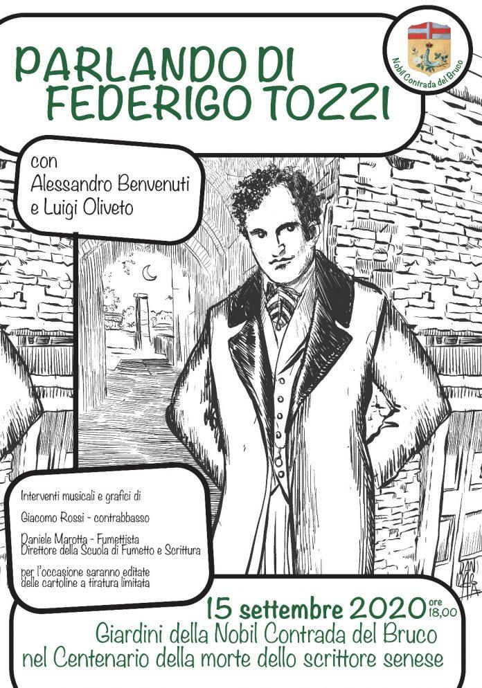 """Bruco, """"Parlando di Federigo Tozzi"""" con Alessandro Benvenuti e Luigi Oliveto"""