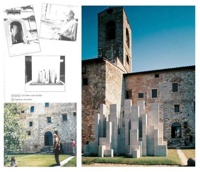Colle val d'Elsa, ricostruita dopo 23 anni la scultura di Sol Lewitt