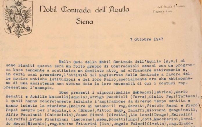 Il Comitato Amici del Palio compie oggi 73 anni