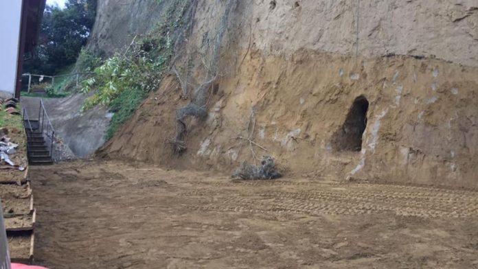 Frana in Fontebranda, ripristinato l'andamento originario del terreno