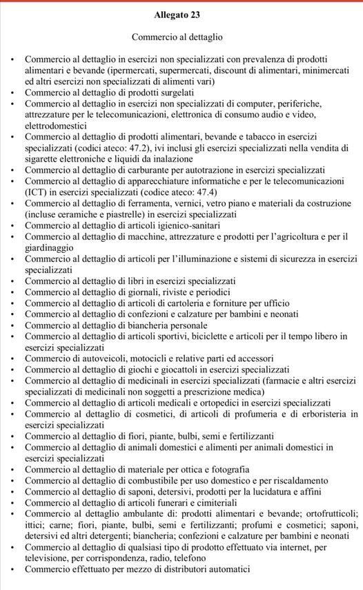Toscana zona rossa elenco attività aperte