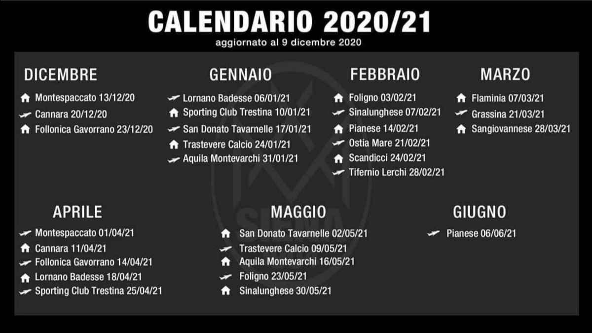 Calendario Siena Calcio 2021 Serie D, ecco il nuovo calendario dell'Acn Siena | RadioSienaTv