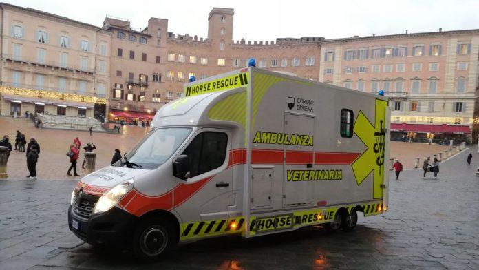 Protocollo equino e Palio, Siena all'avanguardia nel mondo: presentata la nuova ambulanza veterinaria