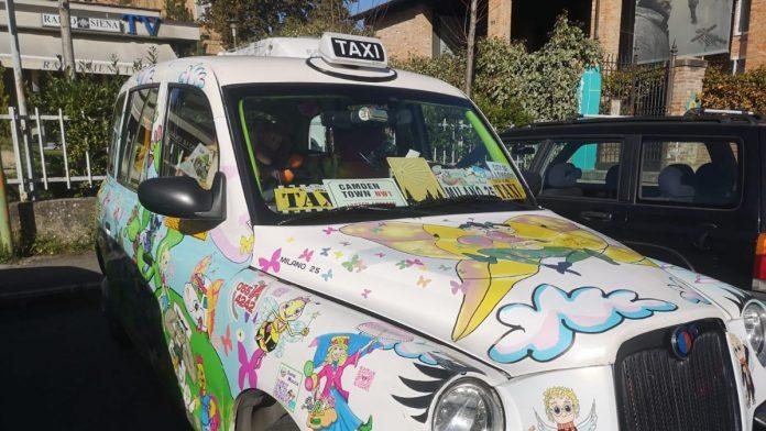 Il taxi colorato di Zia Caterina arriva a Siena