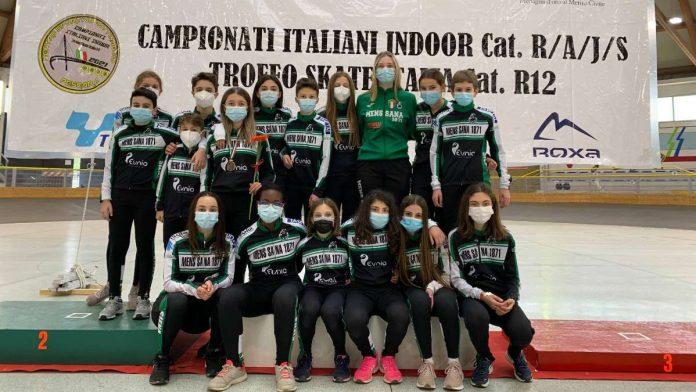 La Mens Sana Pattinaggio Corsa è campione italiano indoor Ragazzi