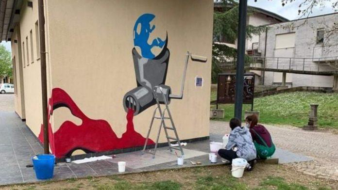Monteroni d'Arbia, al via i lavori per il murales degli studenti del Liceo Artistico