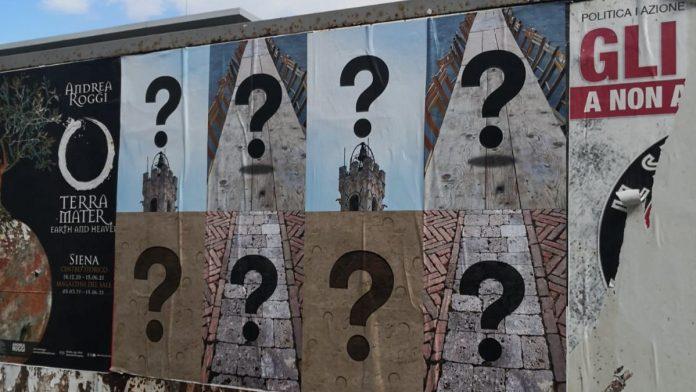 Punti interrogativi sparsi in città: che cosa significano?