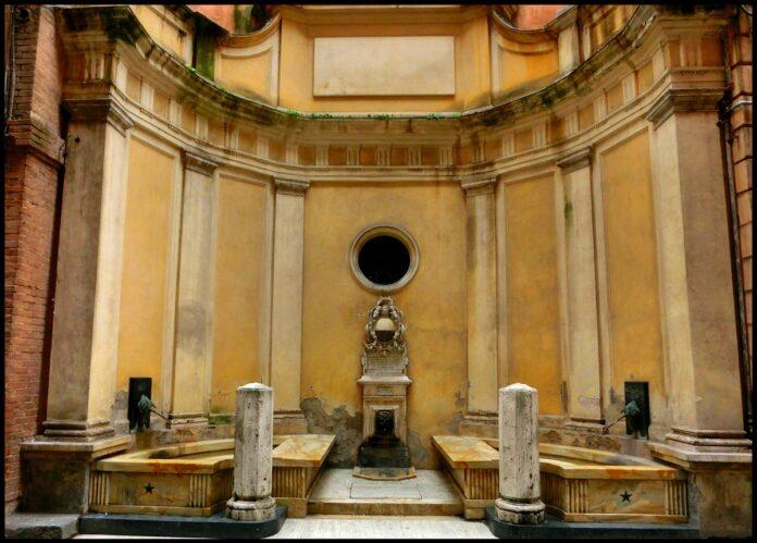 Restauro della fonte di Pantaneto, convenzione Comune di Siena-Contrada del Leocorno