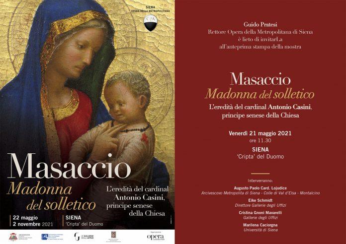 """Cripta del Duomo, in mostra la Madonna col Bambino, detta """"del solletico"""", di Masaccio"""