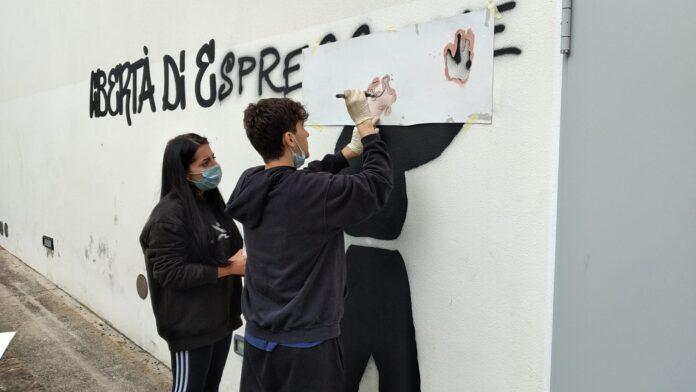 Murales a Monteroni d'Arbia: sono 5 le rappresentazioni dei giovani artisti