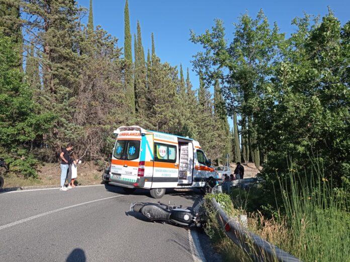 Incidente Siena, scontro tra motociclista e auto