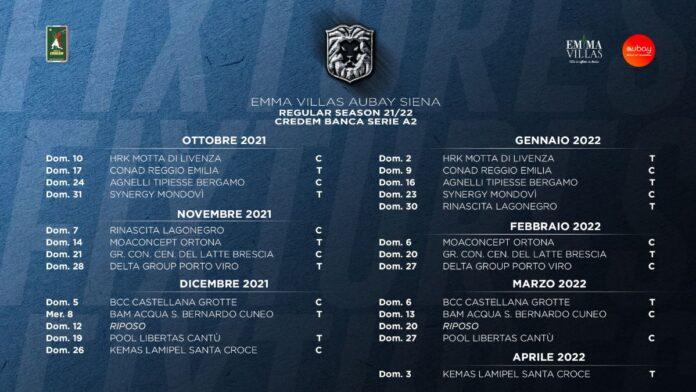 Emma Villas, ecco il calendario di serie A2: esordio contro Motta di Livenza