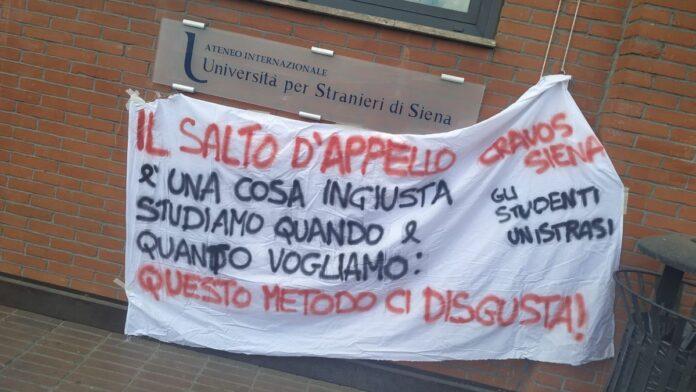 Salto d'appello, continua la mobilitazione degli studenti senesi Unistrasi