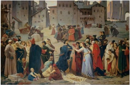 Siena: il Provenzan Salvani di Amos Cassioli esposto nella sala del Mappamondo di Palazzo Pubblico
