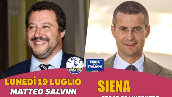 Suppletive: lunedì 19 Matteo Salvini a Siena per sostenere Marrocchesi Marzi