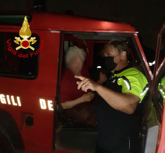 Radda in Chianti, 90enne dispersa ritrovata dai vigili del fuoco e Racchetta