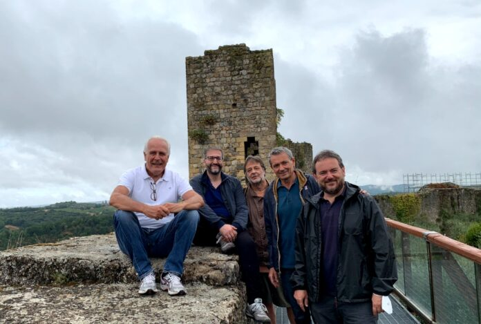 Monteriggioni, Giani e Frosini in cammino sulla Francigena