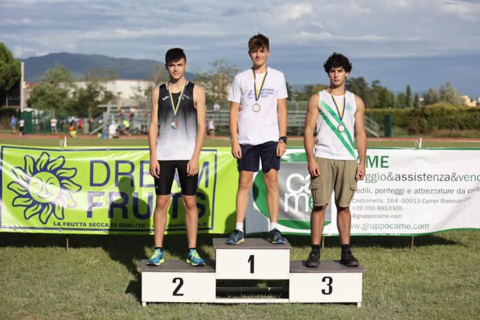 Uisp Atletica Siena, Duccio Bernardi Campione Toscano cadetti nel lancio del disco