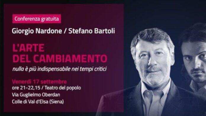 Giorgio Nardone e Stefano Bartoli di nuovo insieme in una conferenza a Colle val d'Elsa