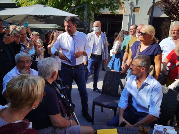 """Suppletive, Salvini ad Asciano: """"Nessuno a sinistra pensi di barattare Mps con il polo life sciences"""""""