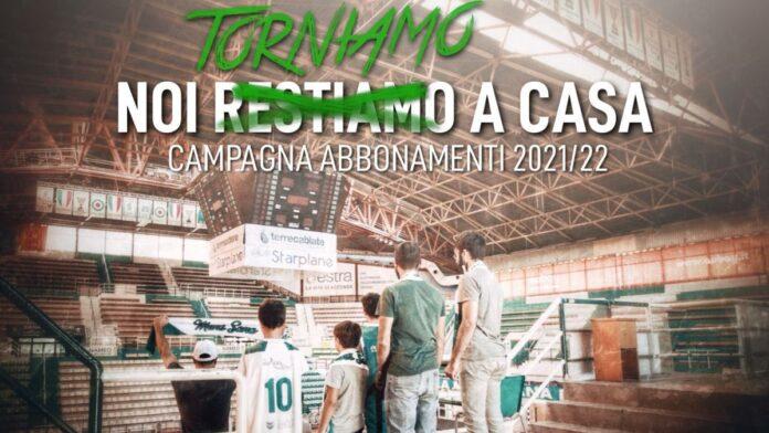 """""""Noi (restiamo) torniamo a casa"""": al via la campagna abbonamenti della Mens Sana Basketball"""