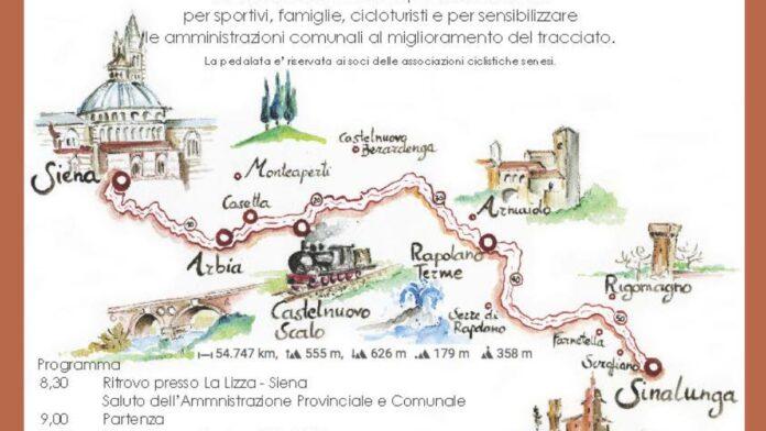 """""""SiconnetteSi"""": in bici da Siena a Sinalunga per proporre un percorso sicuro"""
