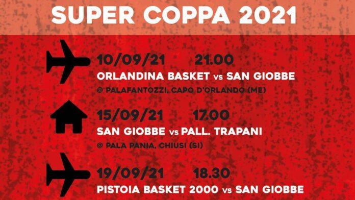 San Giobbe Chiusi, ufficiale il calendario della Supercoppa di A2