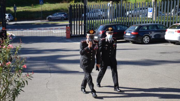 Il Comandante Interregionale dei Carabinieri Carmelo Burgio in visita nel senese