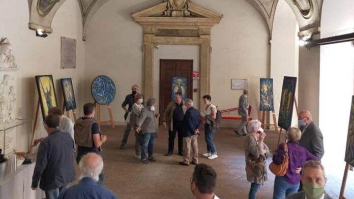 At the Rectorate of the University of Siena the exhibition by Domenico Conforte